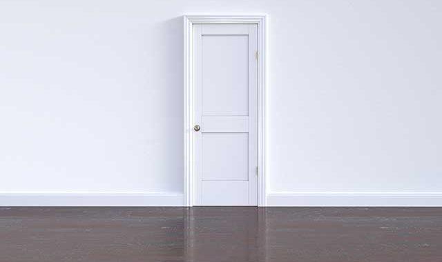 door inside home