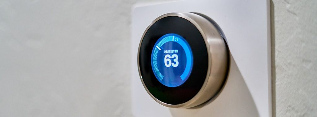 A new smart thermostat installation